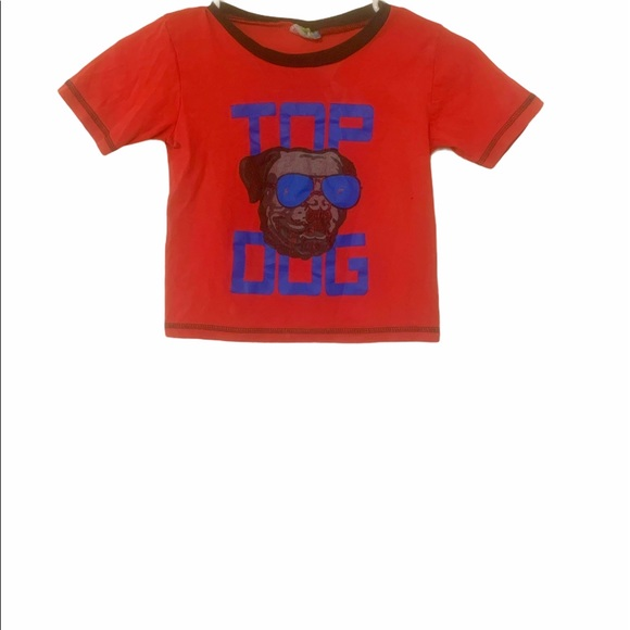 BOYS TOP DOG RED AND BLUE SHIRT